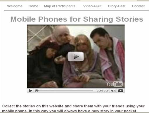Video clip showing how to share stories via mobile phones