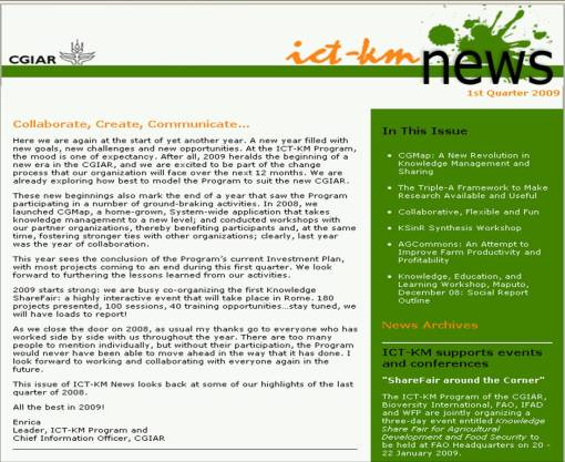 ict-km-newsletter-1st-quarter-09-front
