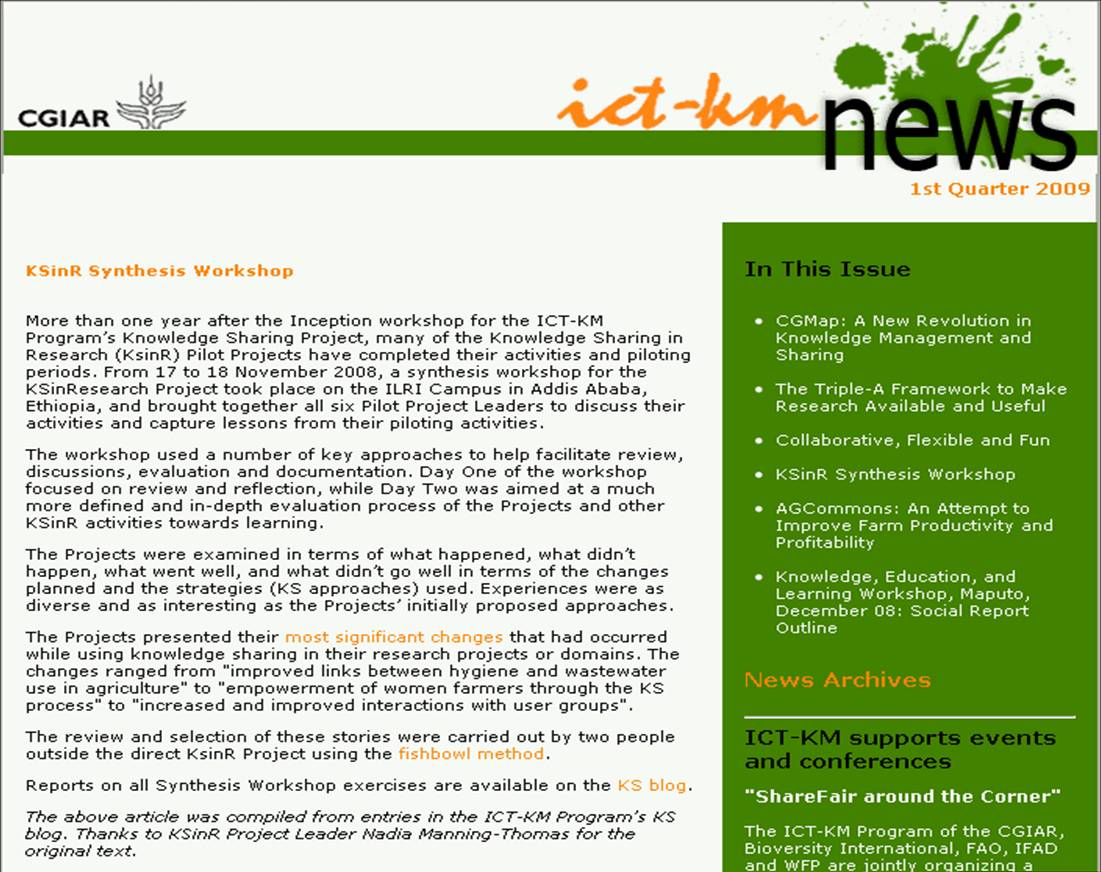 ksinr-synthesis-workshop-article-in-ict-km-newsletter