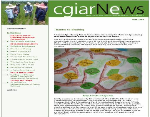 knowledge-fair-article-in-cgiar-news-april