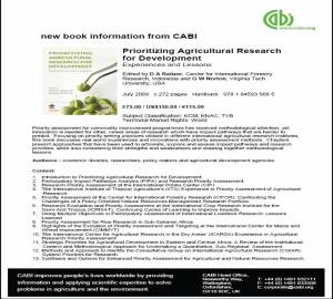 CIFOR CABI Book flyer