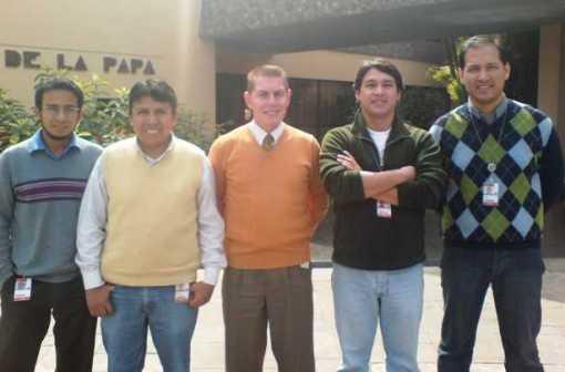 From left: Rolando Navarro Jara, Roberto Del Villar Prado, Anthony Collins, Peter Valdivieso, Dante Palacios