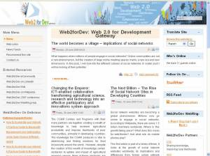 ICT think-piece on WEb2.0fordev website